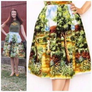 Bernie Dexter Trixie Skirt in Cottage Print - XS